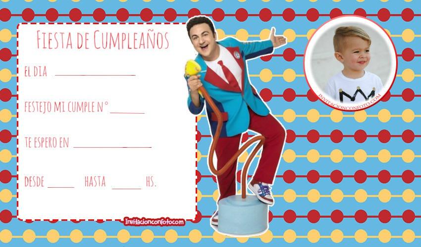Invitaciones De Cumpleaños Topa Junior Express Con Foto